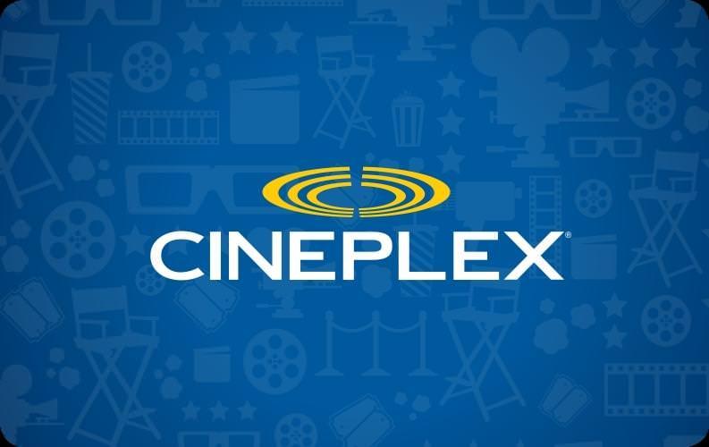 $50 CND Cineplex E-Gift Card