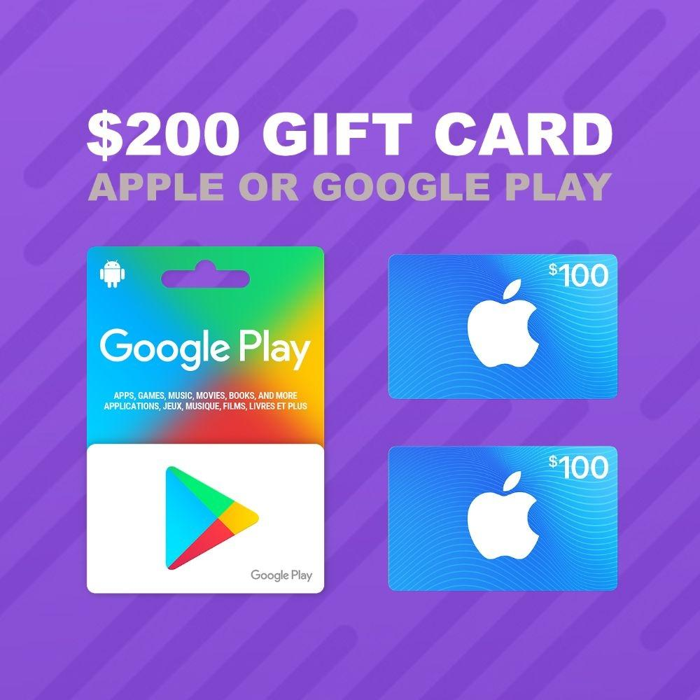 APPLE/GOOGLE PLAY GIFT CARD