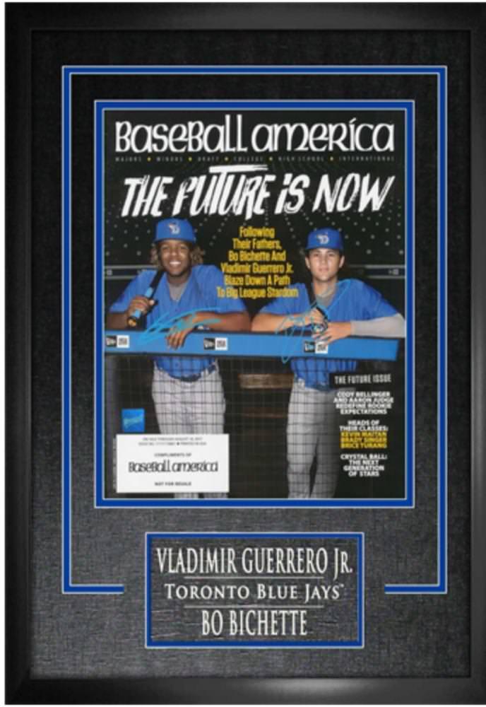 Bo Bichette and Vladimir Guerrero Jr. Dual Signed Magazine with