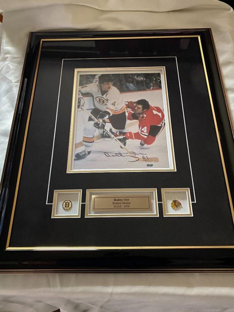 Bobby Orr Framed/Signed Photo