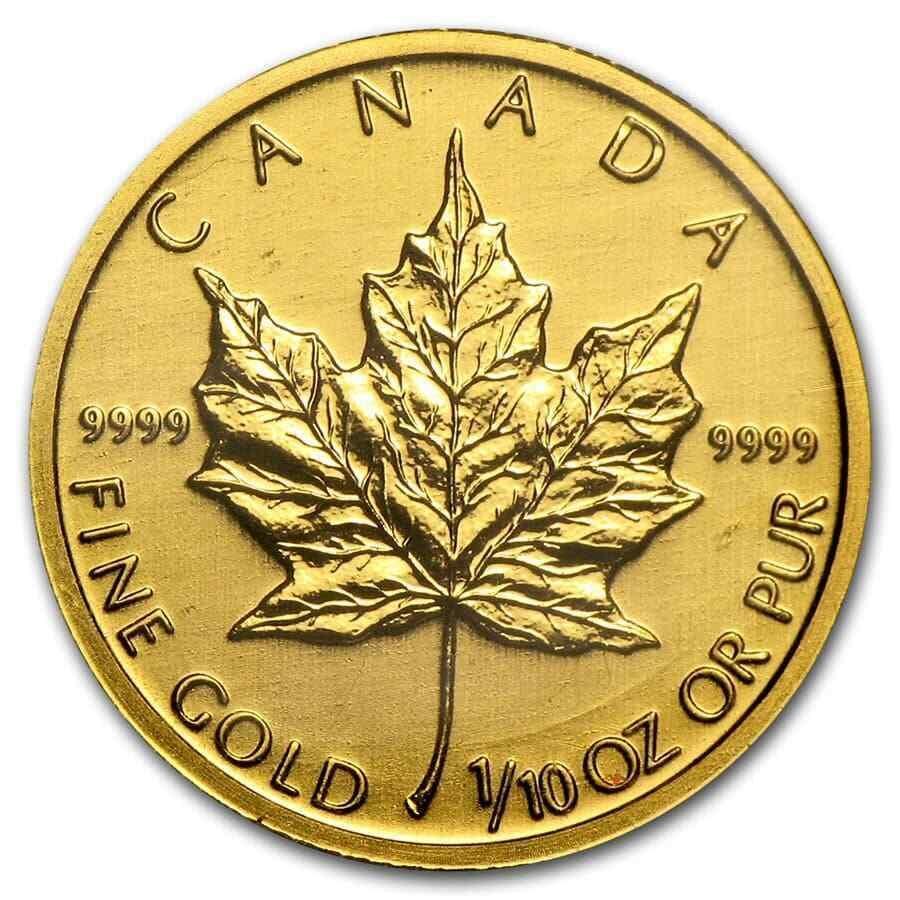 Canada 1/10 oz Gold Maple Leaf
