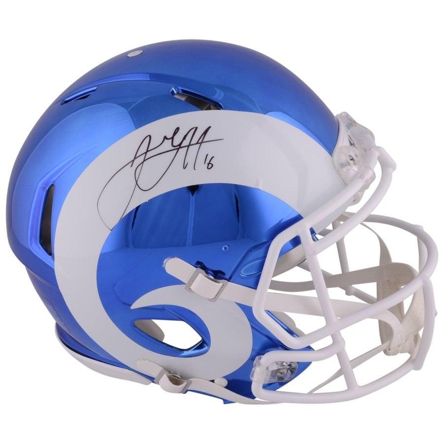 Goff Signed Chrome Helmet