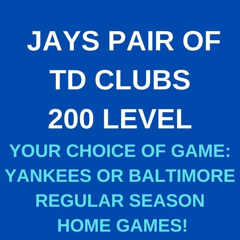 JAYS PAIR 200 LEVEL TD CLUBS