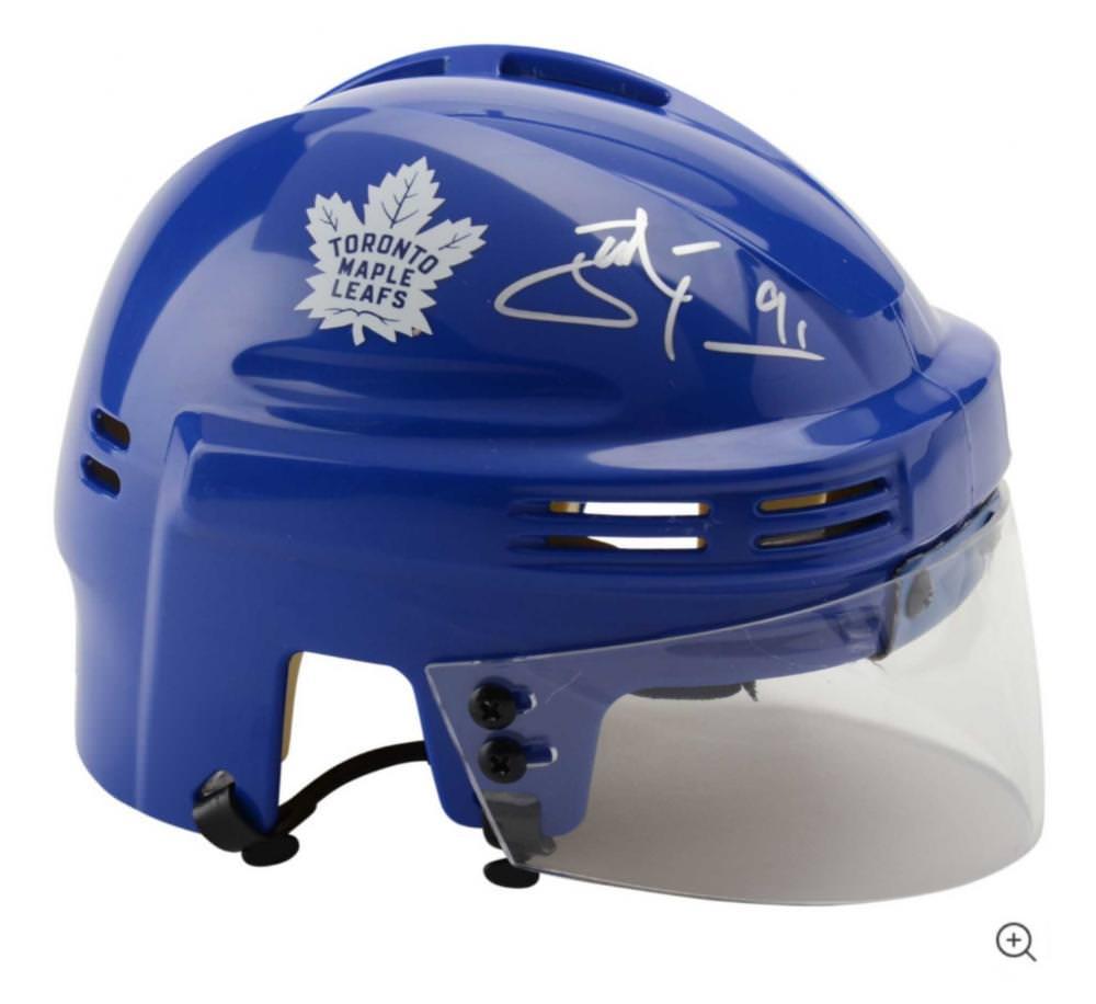 John Tavares Toronto Maple Leafs Autographed Blue Mini Helmet