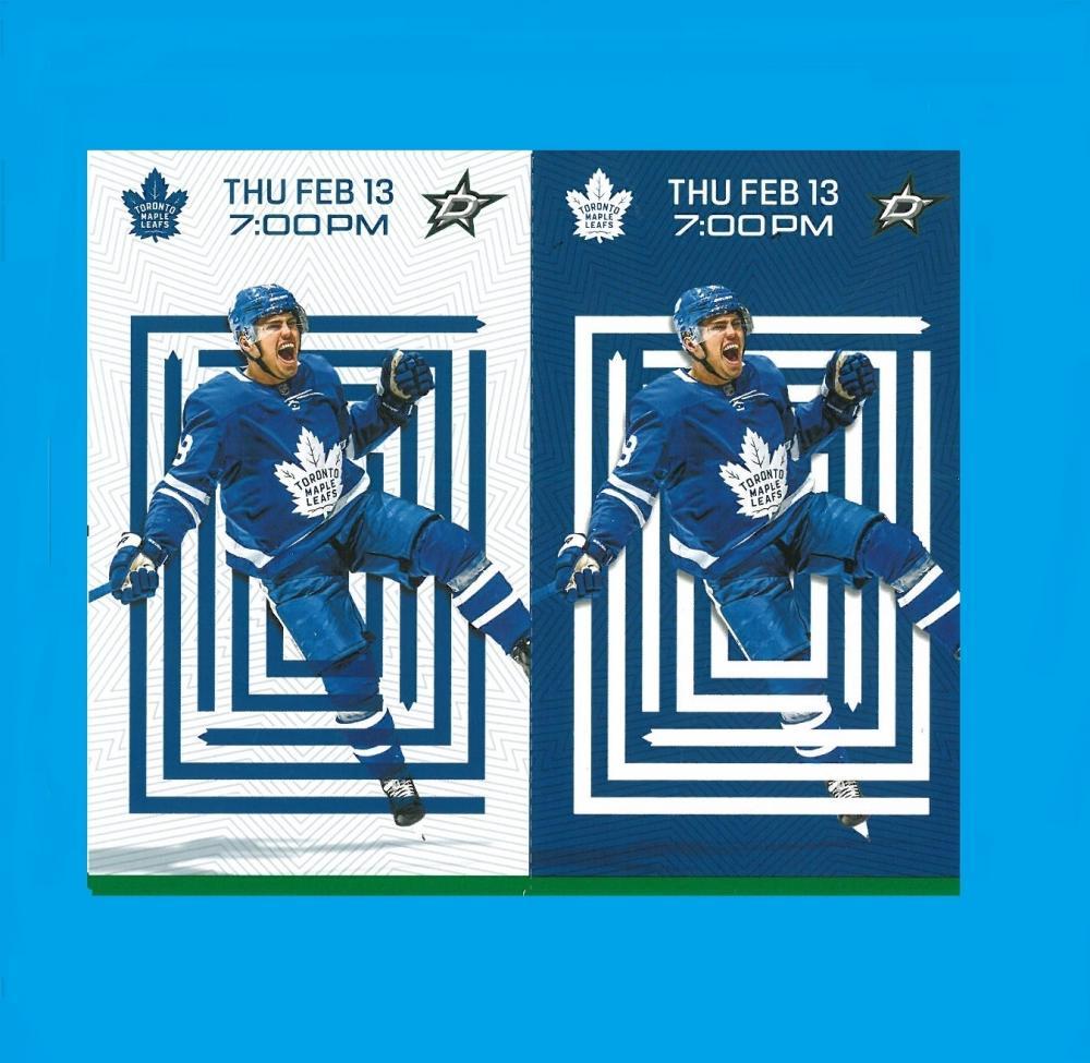 Leafs vs Stars 1st Row Uppers