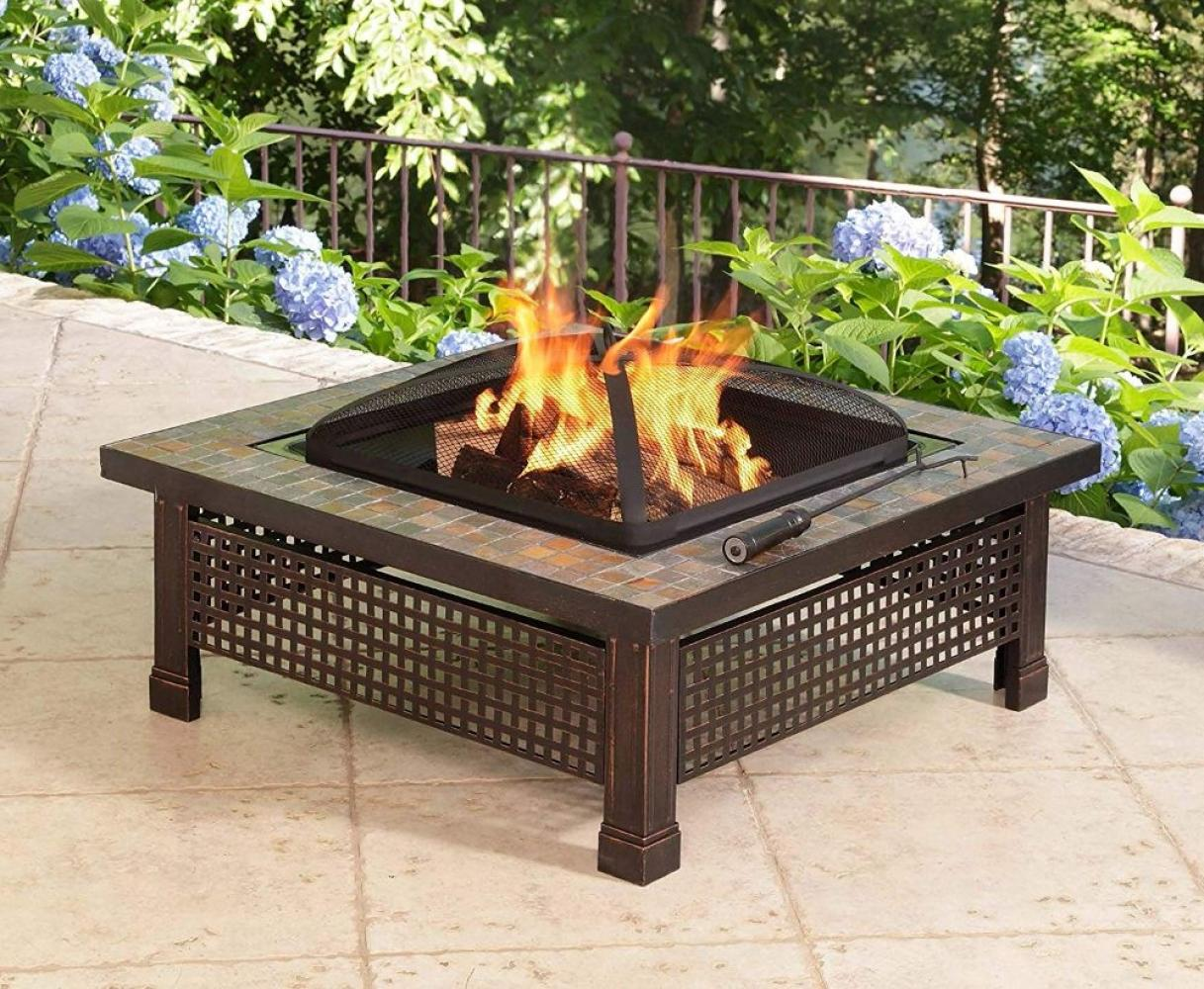 Natural Slate 34-Inch Fire Pit