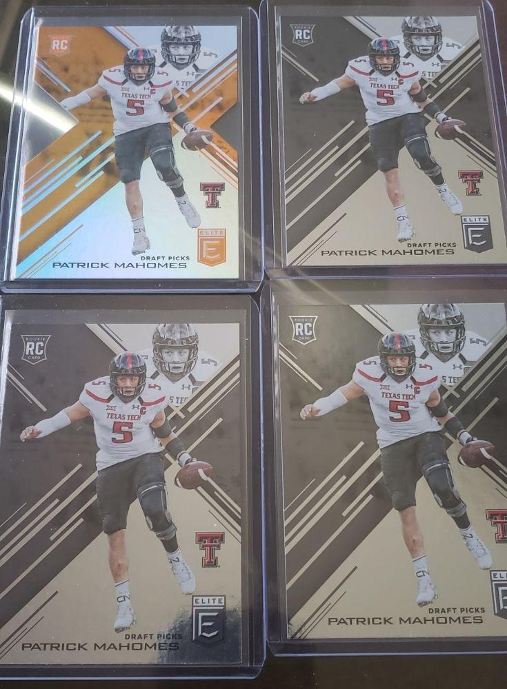 Pat Mahomes Rookie card Lot(4)