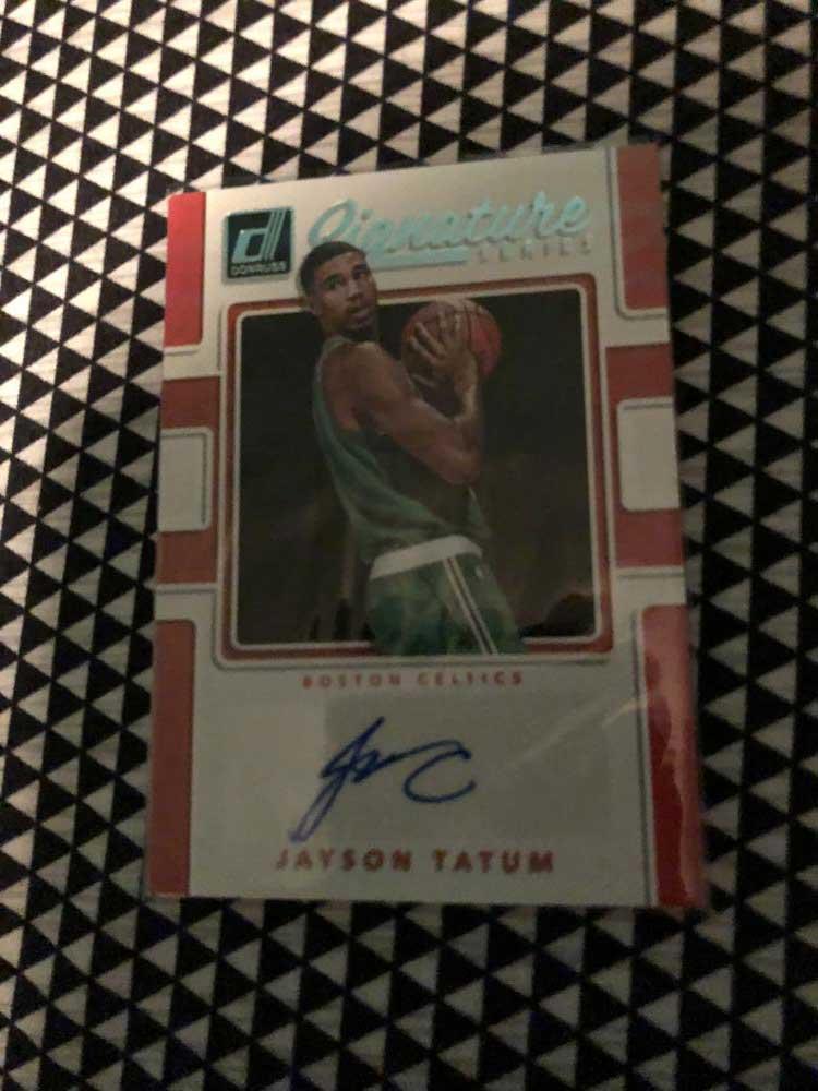 Tatum signed card