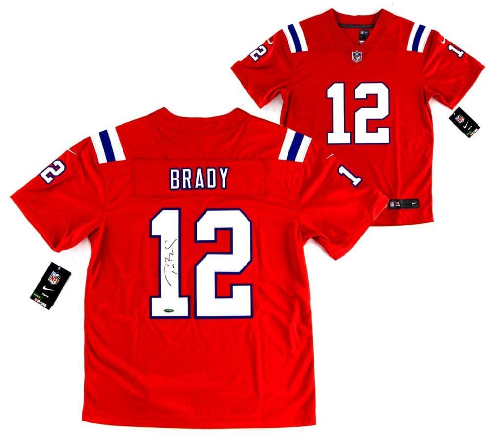 Tom Brady auto Nike Red Jersey