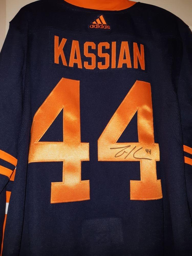 Zack Kassian Signed Alt Jersey